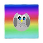 Owl (Rainbow) Queen Duvet