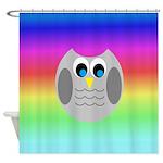 Owl (Rainbow) Shower Curtain
