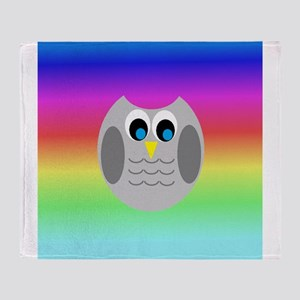 Owl (Rainbow) Throw Blanket