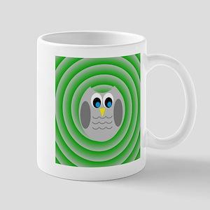 Owl (Green Circles) Mugs