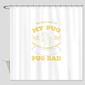 Pug Dog design Shower Curtain
