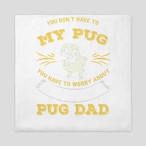 Pug Dog design Queen Duvet