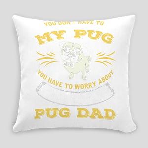 Pug Dog design Everyday Pillow