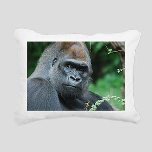 Gorilla Gaze Rectangular Canvas Pillow