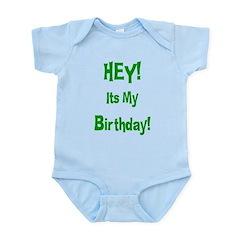Hey! Birthday! (Green) Infant Bodysuit