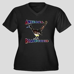 Arizona Roadrunner Women's Plus Size V-Neck Dark T