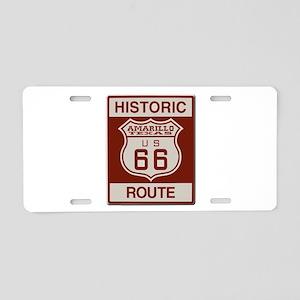 Amarillo Route 66 Aluminum License Plate
