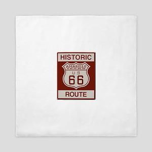 Amarillo Route 66 Queen Duvet