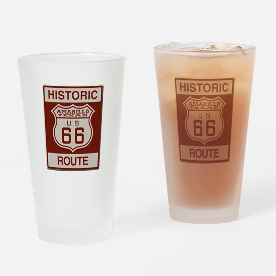 Amarillo Route 66 Drinking Glass