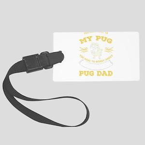 Pug Dog design Large Luggage Tag