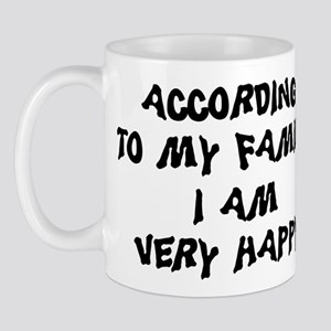 According To My Family Mug