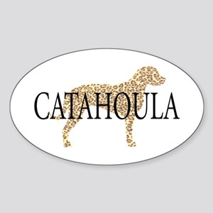 Catahoula Leopard Dogs Oval Sticker