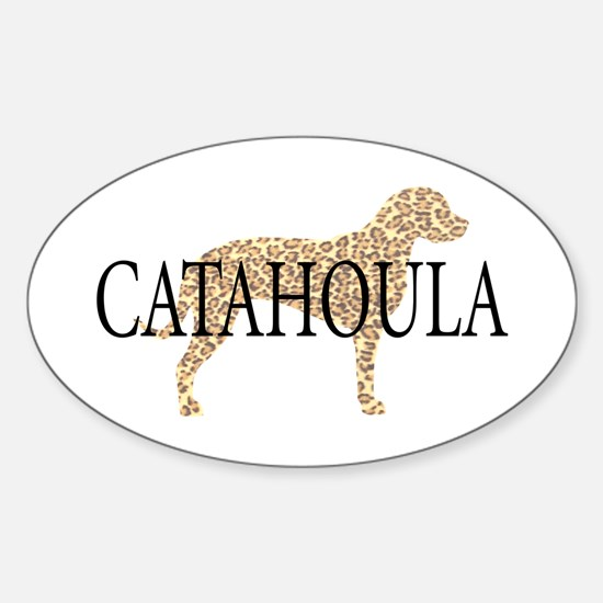 Catahoula Leopard Dogs Oval Decal