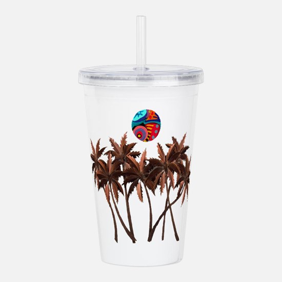 PALMS WHIMSY Acrylic Double-wall Tumbler