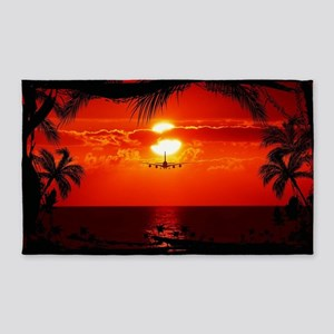 Wonderful Sunset 3'x5' Area Rug