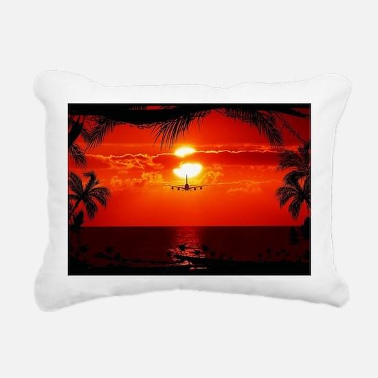 Wonderful Sunset Rectangular Canvas Pillow