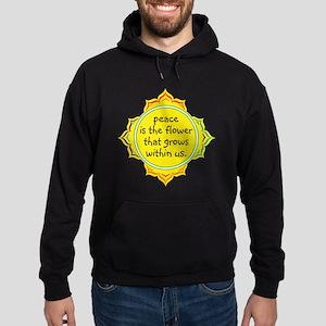 Peace is the Flower Hoodie (dark)