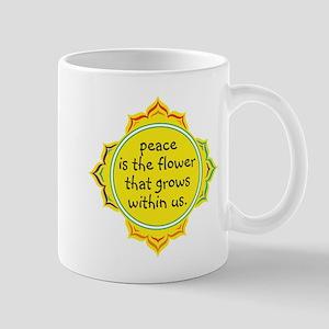 Peace is the Flower Mug