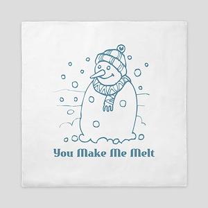 Snowman - You Make Me Melt Queen Duvet