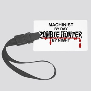 Zombie Hunter - Machinist Large Luggage Tag