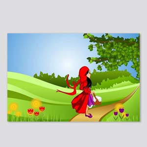 Little Red Riding Hood Ta Postcards (Package of 8)