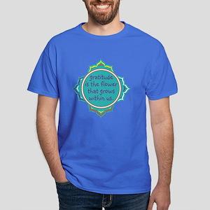 Gratitude is the Flower Dark T-Shirt