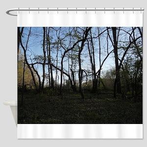 Waving trees Shower Curtain