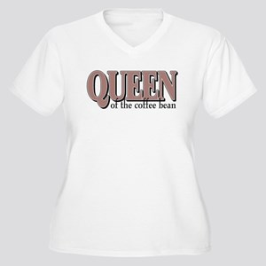 Queen of the Bean Women's Plus Size V-Neck T-Shirt