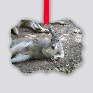 Relaxing Kangaroo Picture Ornament