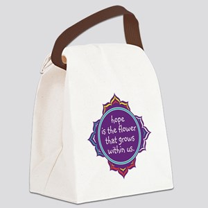 Hope is the Flower Canvas Lunch Bag