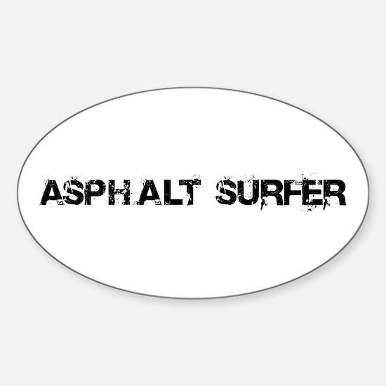 Asphalt Surfer Sticker (Oval)