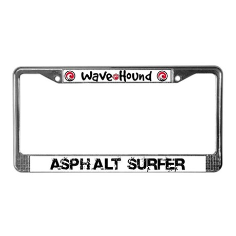 Asphalt Surfer License Plate Frame