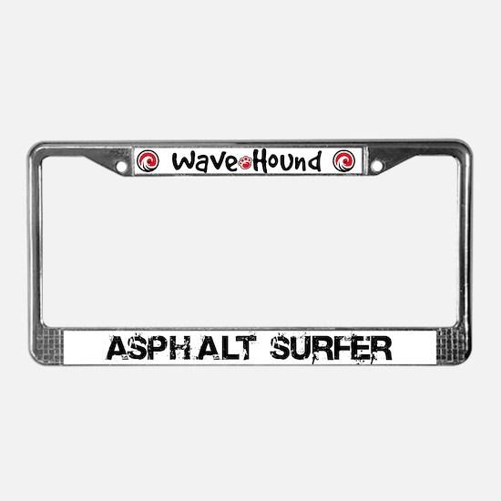 Asphalt Surfer License Plate Frame