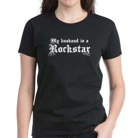 My Husband is a Rockstar Women's Dark T-Shirt