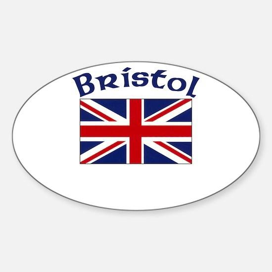 Bristol, England Oval Decal
