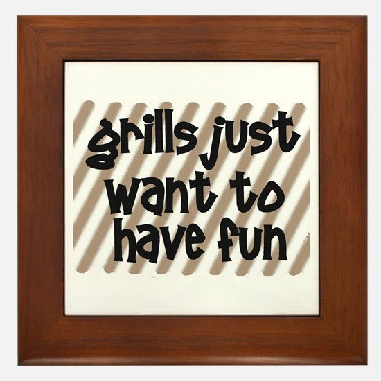 Fun Grills Framed Tile