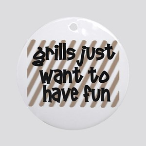 Fun Grills Ornament (Round)