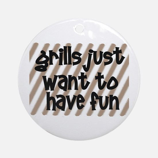 Fun Grills Ornament (Round)