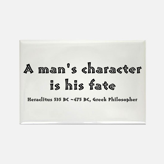 HERACLITUS QUOTE Rectangle Magnet (10 pack)