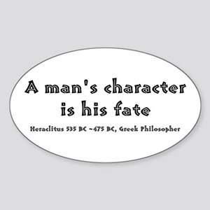 HERACLITUS QUOTE Oval Sticker
