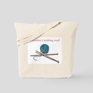 Grandma's Knitting Tote Bag