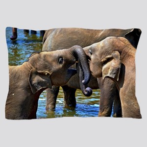 Sweet Kissing Elephant Pillow Case