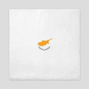 Flag of Cyprus Queen Duvet