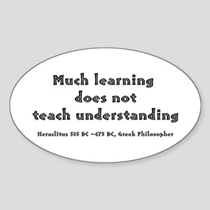 HERACLITUS Oval Sticker