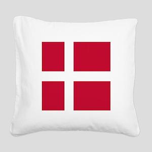 Flag of Denmark Square Canvas Pillow