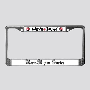 Born-Again Surfer License Plate Frame