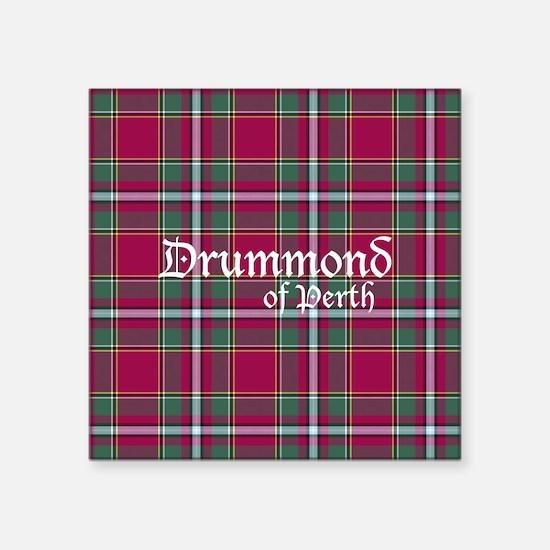 """Tartan - Drummond of Perth Square Sticker 3"""" x 3"""""""