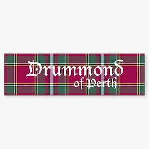 Tartan - Drummond of Perth Sticker (Bumper)