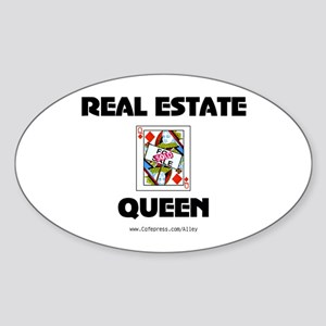 Real Estate Queen Oval Sticker