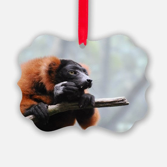 Sharp Toothed Red Ruffed Lemur Ornament